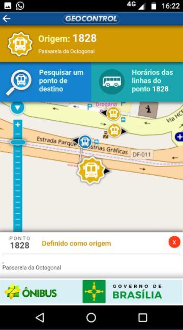 """Lançado, no 1º semestre/2018, o aplicativo +Ônibus Brasília, que permite ao passageiro consultar as linhas de ônibus existentes no Distrito Federal e seus horários em tempo real, via GPS. Ele também possibilita a pesquisa das possíveis rotas entre um ponto de origem e o destino desejado. Inicialmente, o aplicativo está disponível com os dados das linhas operadas pelas empresas Piracicabana e Marechal. <br><br> Baixe aqui Android: (<a href=""""https://play.google.com/store/apps/details?id=br.com.geocontrol.pontual.pontual_previsao_ui&hl=pt_BR%20"""">link aqui</a>) <br> Baixe aqui IOS: (<a href=""""https://itunes.apple.com/br/app/%C3%B4nibus/id1350753054?mt=8"""">link aqui</a>)"""