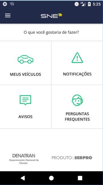 """Formalizada, em janeiro/2017, a adesão do Departamento de Estradas de Rodagem ao Sistema de Notificação Eletrônica - SNE e à Nova Sistemática de Processamento de Multas - Radar. <br><br> Com a implantação do SNE e do Radar, o cidadão, ao ser autuado, recebe as notificações via aplicativo ou por meio da internet. A sistemática permite, ainda, o pagamento de multas com 40% de desconto. Anteriormente, o tempo médio gasto para o procedimento de notificação era de 35 dias, via postagens nos Correios.<br><br> <ul>     <li>Baixe aqui Android: (<a href=""""https://play.google.com/store/apps/details?id=br.gov.serpro.denatran.sne&hl=pt_BR"""">link aqui</a>)</li>      <li>Baixe aqui IOS: (<a href=""""https://itunes.apple.com/br/app/sne/id1170007091?mt=8"""">link aqui</a>)</li> </ul>"""