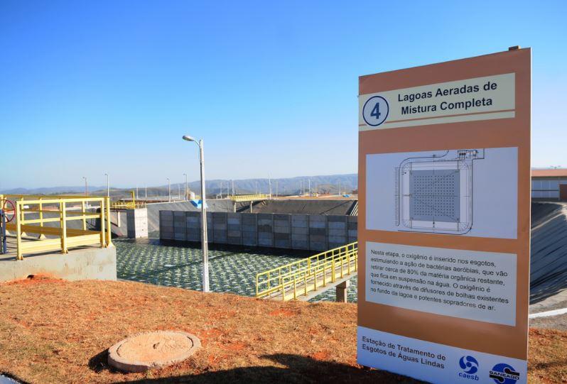 Implantado o sistema de esgotamento sanitário na Cidade de Águas Lindas/GO, em setembro/2017, beneficiando cerca de 85.500 habitantes.
