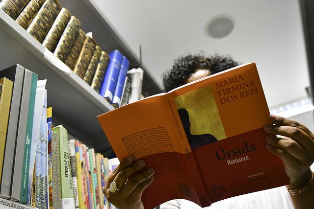 """Criado, em 2017, o Selo Maria Firmina dos Reis, dedicando um acervo especial à literatura afro-brasileira e da Diáspora, na Biblioteca Nacional de Brasília - BNB (200 novos títulos foram incorporados às estantes da biblioteca). O selo está relacionado  à Política Cultural de Ações afirmativas, por meio da Portaria nº 287, de 05/10/2017 (<a href=""""http://www.sinj.df.gov.br/sinj/Norma/649caf8029d64ddfaafcc13403870227/Portaria_287_05_10_2017.html"""">link aqui</a>)."""