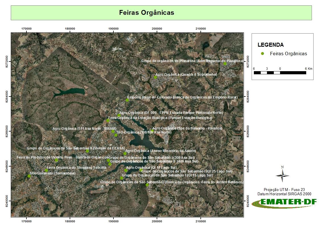 """Implantadas, entre 2015 e 2018, novas feiras orgânicas no DF e realizada manutenção, por meio de assistência técnica, em outras já existentes. <br><br> Em setembro/2018, foram mapeadas 48 feiras orgânicas e 60 feiras convencionais ativas, georreferenciadas e disponibilizadas no sítio da Emater-DF (<a href=""""http://www.emater.df.gov.br/feiras-organicas/"""">link aqui</a>)."""