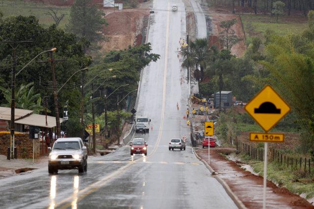 Inaugurada, em novembro/2017, a pavimentação da rodovia vicinal VC-533, entroncamento BR-080 (Brazlândia) - Divisa DF/GO (Padre Lúcio) e a ponte (córrego Descoberto).