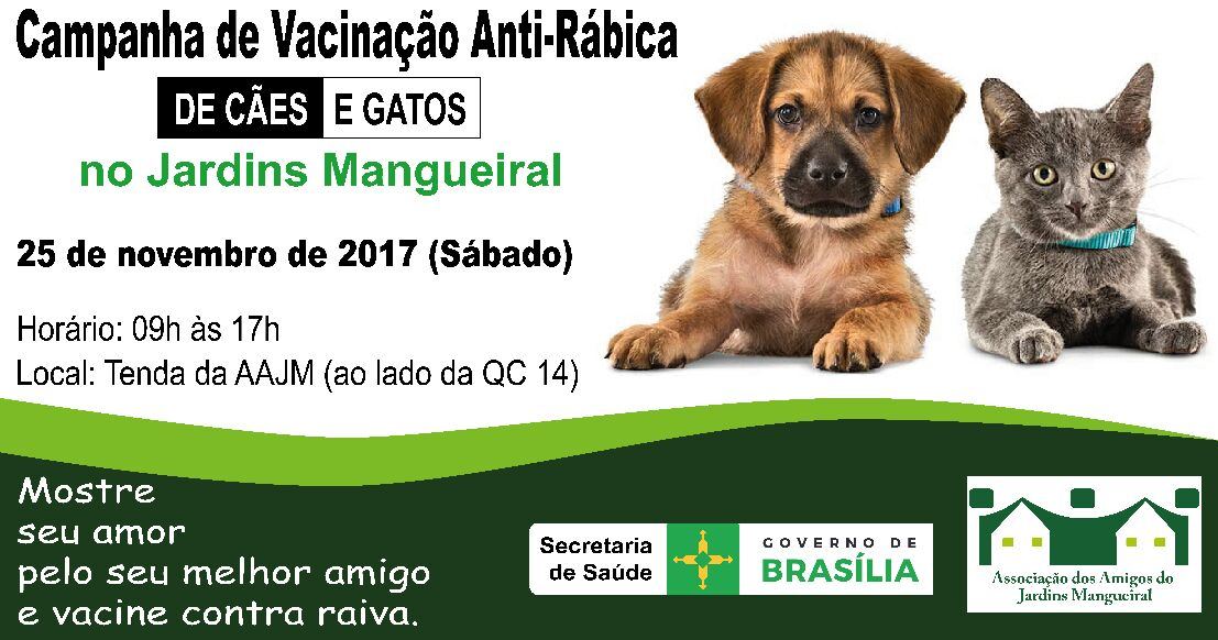 Desenvolvida em três etapas, nos meses de agosto e setembro, a Campanha de Vacinação Antirrábica 2016, em cães e gatos: uma na área rural e duas na área urbana. <ul>     <li>A iniciativa resultou em 164.644 cães e 24.521 gatos vacinados, totalizando 189.165 animais imunizados - o maior número desde 2002.</li> </ul>
