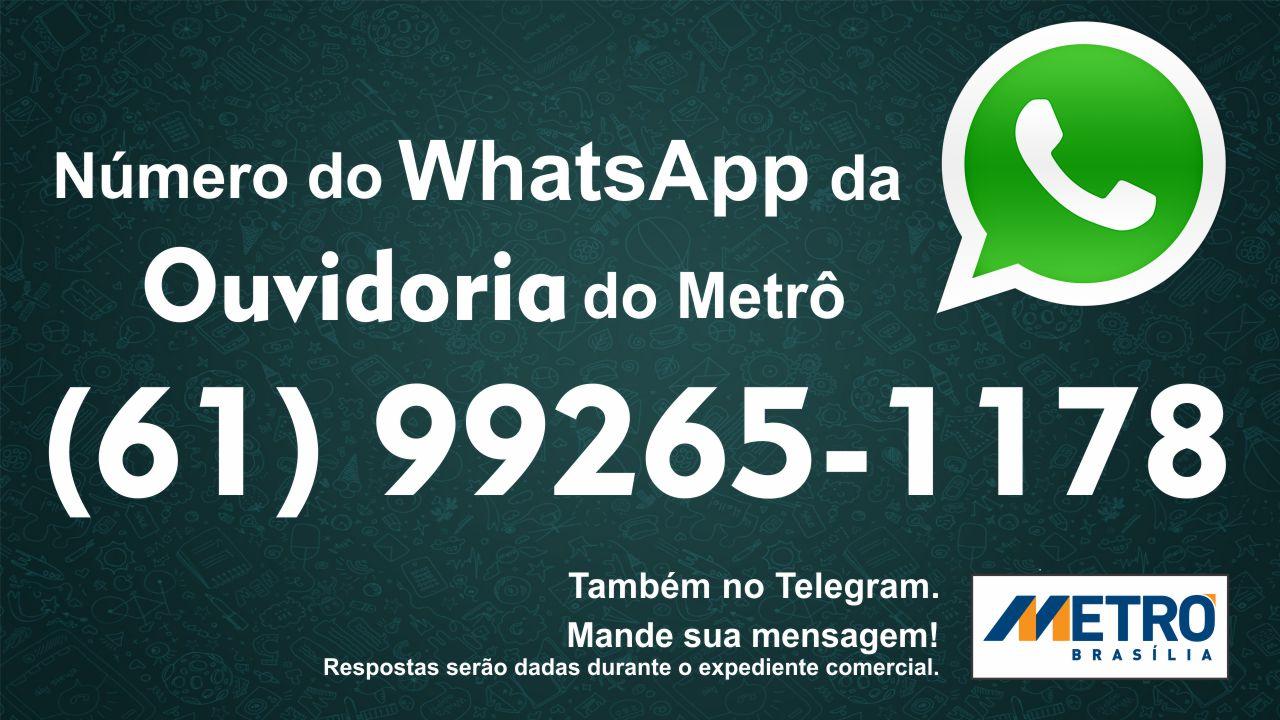 Implantado, em 2015, o serviço de atendimento ao cidadão (ouvidoria) via Whatsapp. Os usuários podem usar o aplicativo para registrar sugestões, denúncias, reclamações, elogios, solicitações e pedidos de informações sobre o serviço prestado pela empresa, que são respondidas no horário de expediente do órgão. O contato é realizado pelo número: (61) 99265-1178, por mensagens de texto.