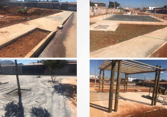Revitalização da Praça Ferrock na QNP 13, em Ceilândia, em andamento, com previsão de conclusão para o 1º semestre/2019. Está prevista a qualificação do espaço público, com a construção de palco para apresentações e quadra de esportes.