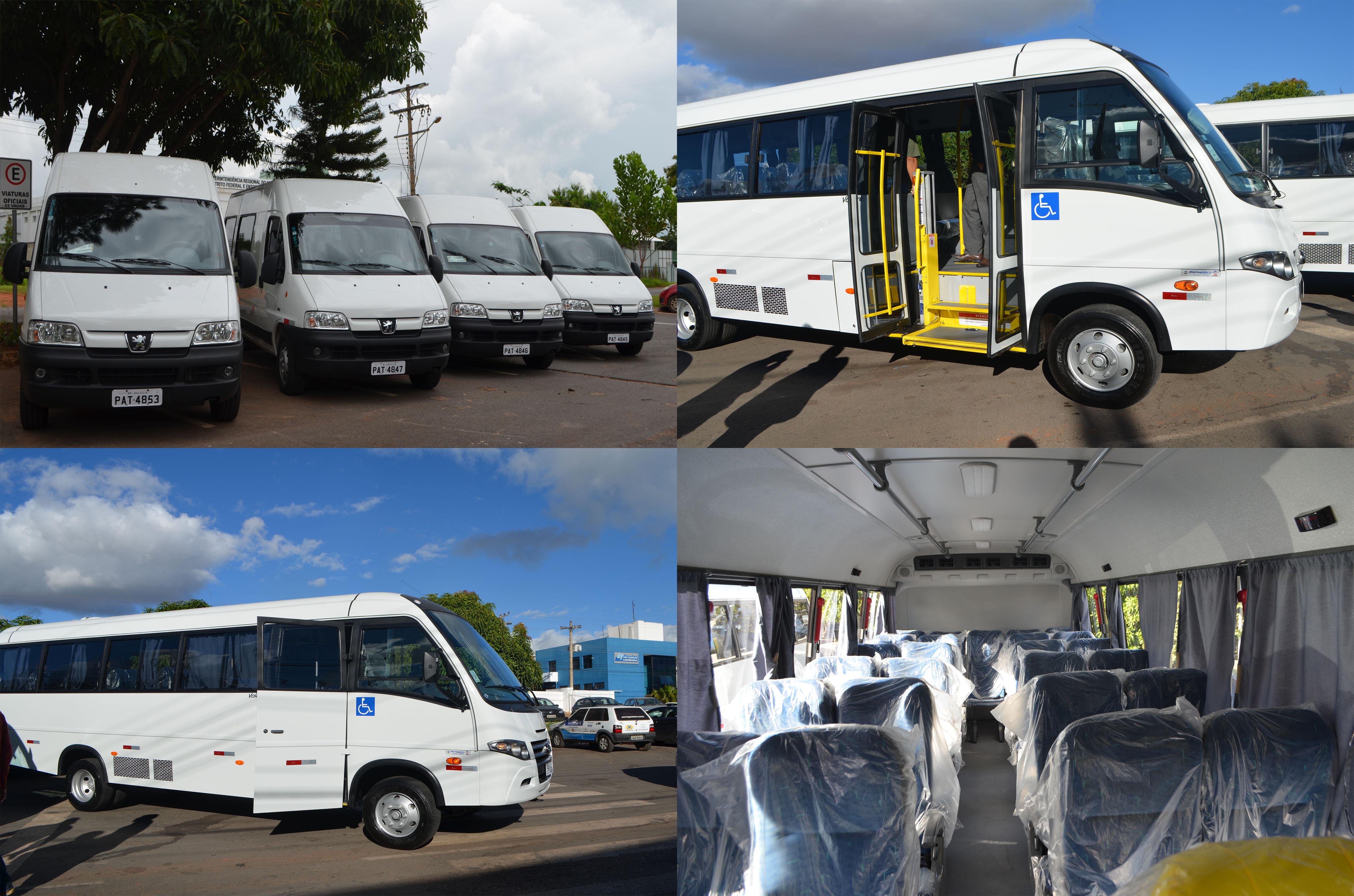 Adquiridos dois micro-ônibus e quatro vans para atender as unidades do Sistema Socioeducativo.