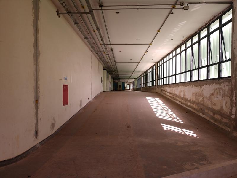 Reforma do Bloco Administrativo do Instituto Hospital de Base do DF em andamento, com previsão de conclusão no 1º semestre/2019.