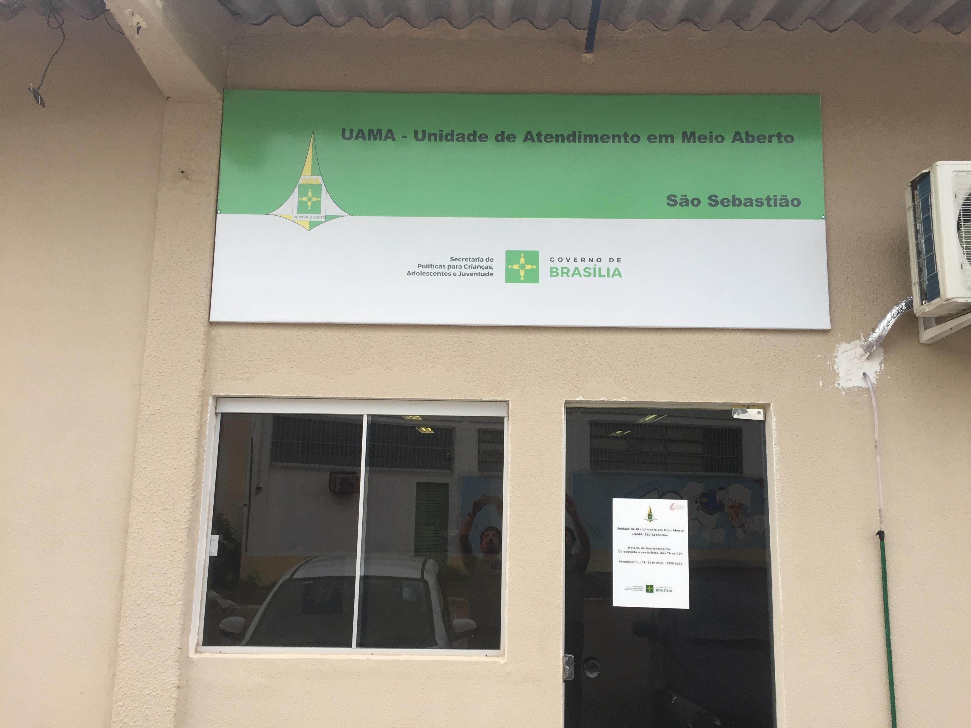 Reformada a Unidade de Meio Aberto - Uama de São Sebastião, localizada na Quadra 101 S/Nº Res. Oeste - Administração de São Sebastião.