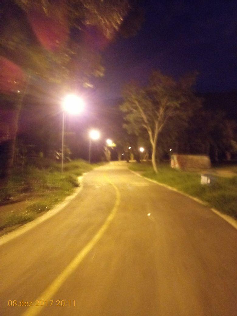 Implantados, em setembro/2018, 81 novos pontos de iluminação pública no Parque Urbano Três Meninas, em Samambaia.