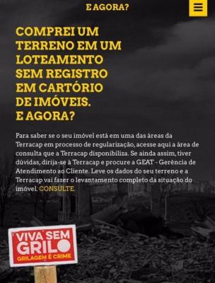 Criada, em 2015, campanha de combate à grilagem de terras, intitulada Viva sem Grilo.