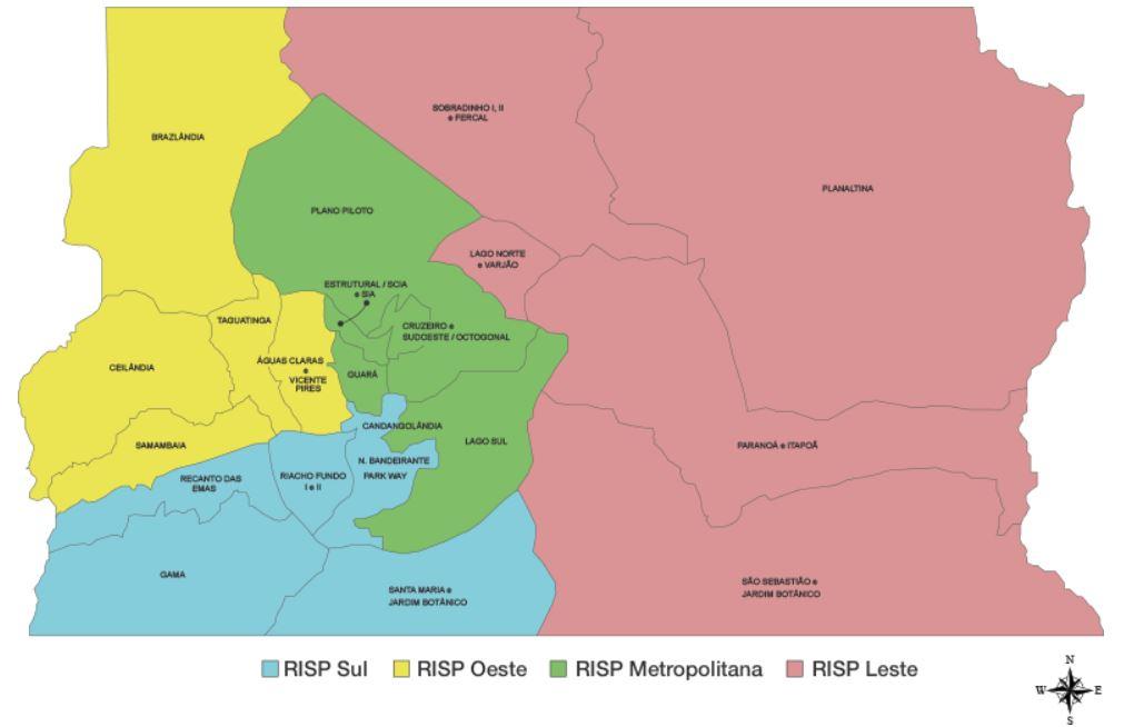 """Reformuladas as Áreas Integradas de Segurança Pública - AISP, por meio do Decreto nº 36.621/2015 (<a href=""""http://www.sinj.df.gov.br/sinj/Norma/acc3cc2d209d409c9497848848017b15/Decreto_36621_21_07_2015.html"""">link aqui</a>), visando a melhor divisão geográfica de uma Região Integrada de Segurança Pública destinada à articulação e à integração, no nível operacional, das Polícias Civil e Militar, Corpo de Bombeiros Militar e Departamento de Trânsito, com vistas ao desenvolvimento de procedimentos, ações e operações específicas e integradas, isoladas ou em conjunto."""